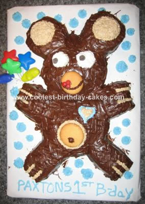 Chocolate Teddy Bear Cake