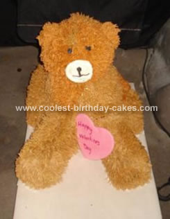Homemade Teddy Bear Cake