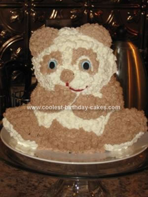 Homemade Teddy Bear Child Birthday Cake