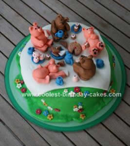 Homemade Teddy Bear Picnic Cake