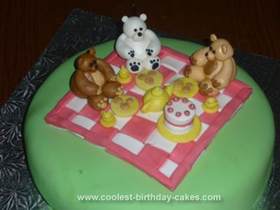 Homemade Teddy Bear's Picnic Cake