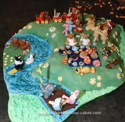 Homemade Teddy Bears Picnic Cake