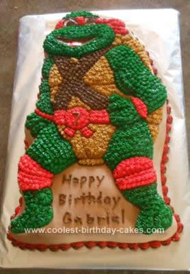 Peachy Coolest Teenage Mutant Ninja Turtle Birthday Cake Funny Birthday Cards Online Elaedamsfinfo
