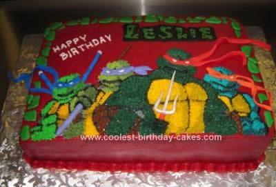 Strange Cool Homemade Teenage Mutant Ninja Turtle Cake Funny Birthday Cards Online Bapapcheapnameinfo