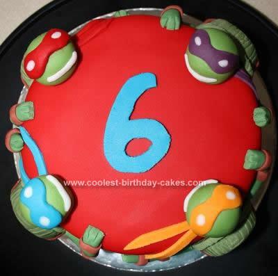 Homemade Teenage Mutant Ninja Turtles Birthday Cake