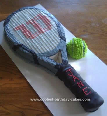 Homemade  Tennis Birthday Cake