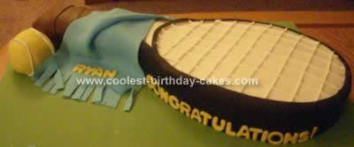Homemade Tennis Racket Cake