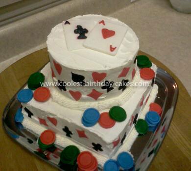 Stupendous Coolest Texas Hold Em Birthday Cake Personalised Birthday Cards Veneteletsinfo