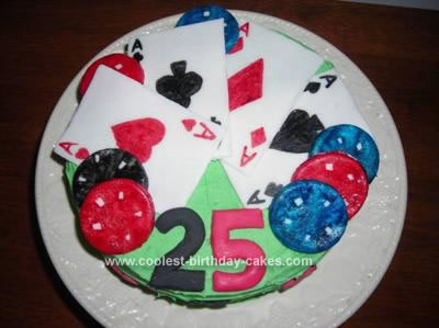Homemade Texas Hold'Em Birthday Cake