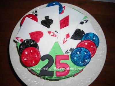 Homemade Texas Hold'Em Birthday Cake