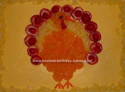 Homemade Thanksgiving Cake