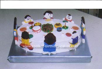 Homemade Thanksgiving Dinner Cake