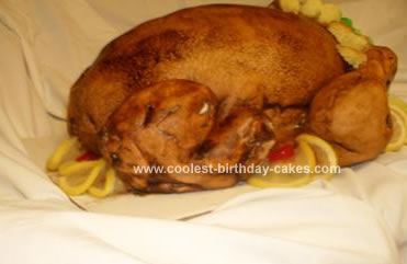 Homemade Thanksgiving Turkey Cake