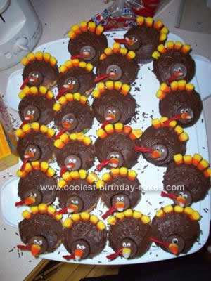 Homemade Thanksgiving Turkey Cupcakes