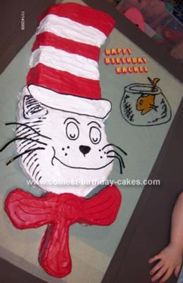 Homemade The Cat in the Hat Cake