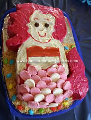 Homemade The Little Mermaid Birthday Cake