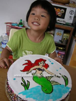 Homemade The Little Mermaid Cake with Alexis