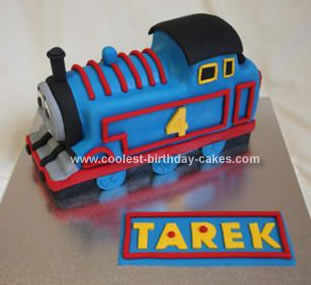 Homemade Thomas Birthday Cake