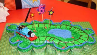 Homemade Thomas Cupcake Cake