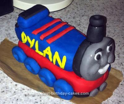 Homemade Thomas The Tank Birthday Cake