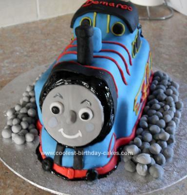 Homemade Thomas the Tank Cake