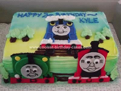 Homemade Thomas the Tank Engine and Friends Cake