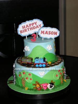 Pleasant Coolest Thomas The Tank Engine Birthday Cake Personalised Birthday Cards Sponlily Jamesorg