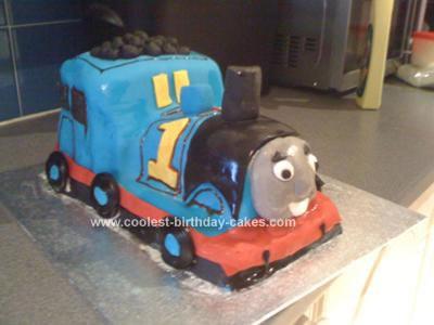 Homemade  Thomas the Tank Engine Cake