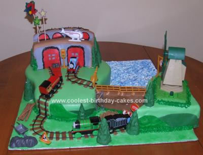 Awe Inspiring Coolest Thomas The Tank Engine Scene Cake Funny Birthday Cards Online Eattedamsfinfo