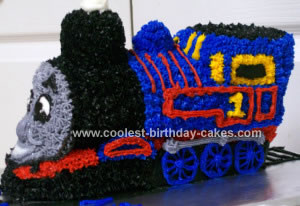 Homemade Thomas the Train 3D Cake