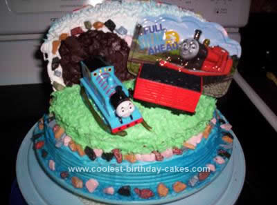 Sensational Coolest Thomas The Train Birthday Cake Personalised Birthday Cards Paralily Jamesorg