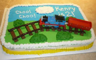 Outstanding Coolest Thomas The Train Birthday Cake Funny Birthday Cards Online Eattedamsfinfo
