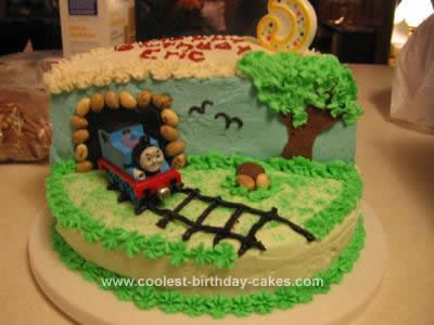 Pleasing Coolest Thomas The Train Birthday Cake Personalised Birthday Cards Sponlily Jamesorg