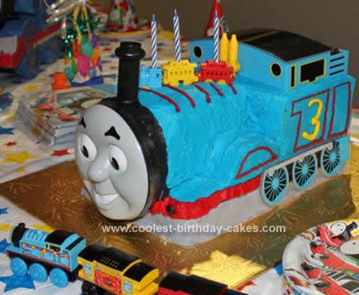 Homemade Thomas the Train Cake