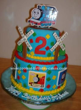Incredible Coolest Thomas The Train Cake Personalised Birthday Cards Sponlily Jamesorg