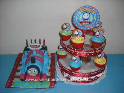 Homemade Thomas the Train Cake Design