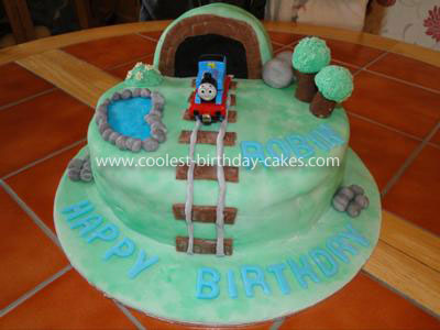 Coolest Thomas the Train Scene Cake