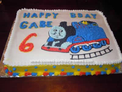 Homemade Thomas Train Birthday Cake