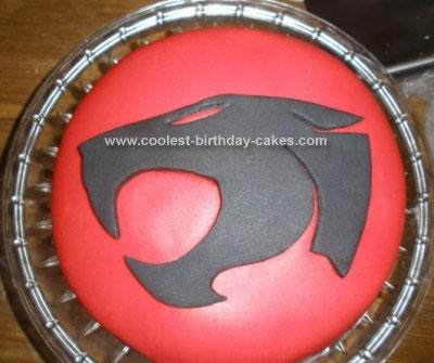 Homemade Thundercats Emblem Cake