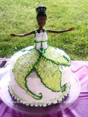 Homemade Tiana 1st Birthday Cake