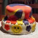 Homemade Tie Dye Cake