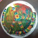 Homemade Tie Dye Peace Cake