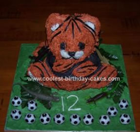 Homemade Tiger Birthday Cake