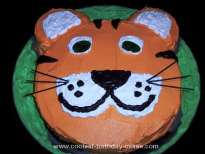 Fine Coolest Tiger Birthday Cake Personalised Birthday Cards Paralily Jamesorg