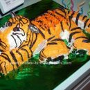 Homemade Tiger Birthday Cake