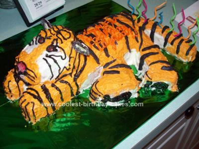 Prime Coolest Tiger Birthday Cake Personalised Birthday Cards Paralily Jamesorg