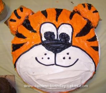 Pleasing Coolest Tiger Birthday Cake Personalised Birthday Cards Paralily Jamesorg