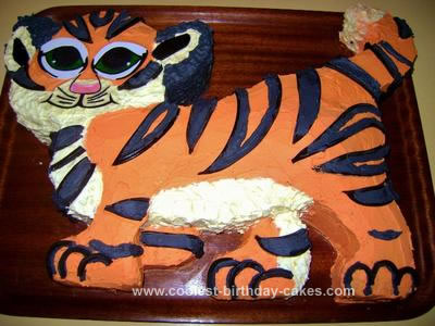 Surprising Coolest Tiger Cake Personalised Birthday Cards Paralily Jamesorg