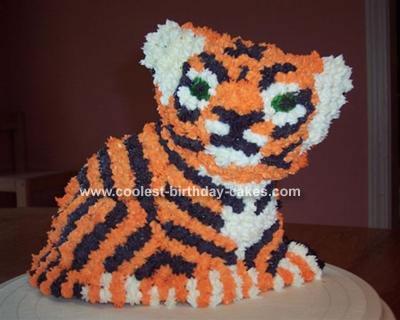 Luke's Stand-Up Tiger Cake
