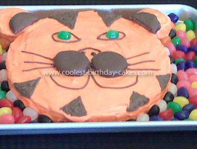 Coolest Tiger Face Cake